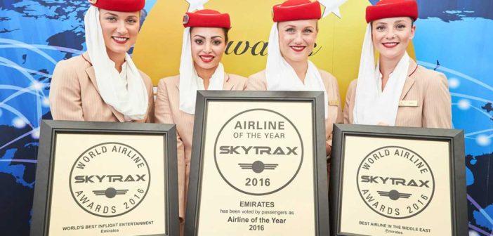 A najlepšou leteckou spoločnosťou pre rok 2016 sa stáva – Emirates!