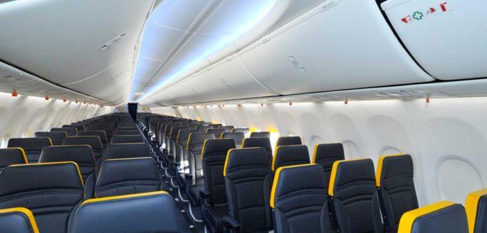 Nový interiér v kabínach Ryanairu