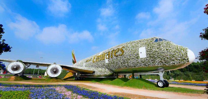 V Dubaji vytvorili najväčšiu kvetinovú inštaláciu Airbusu A380