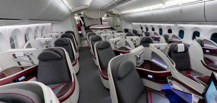 Na palube lietadla Boeing 787 Dreamliner – Qatar Airways