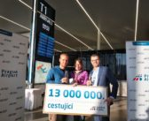 V roku 2016 odbavilo Letisko Praha 13 miliónov pasažierov